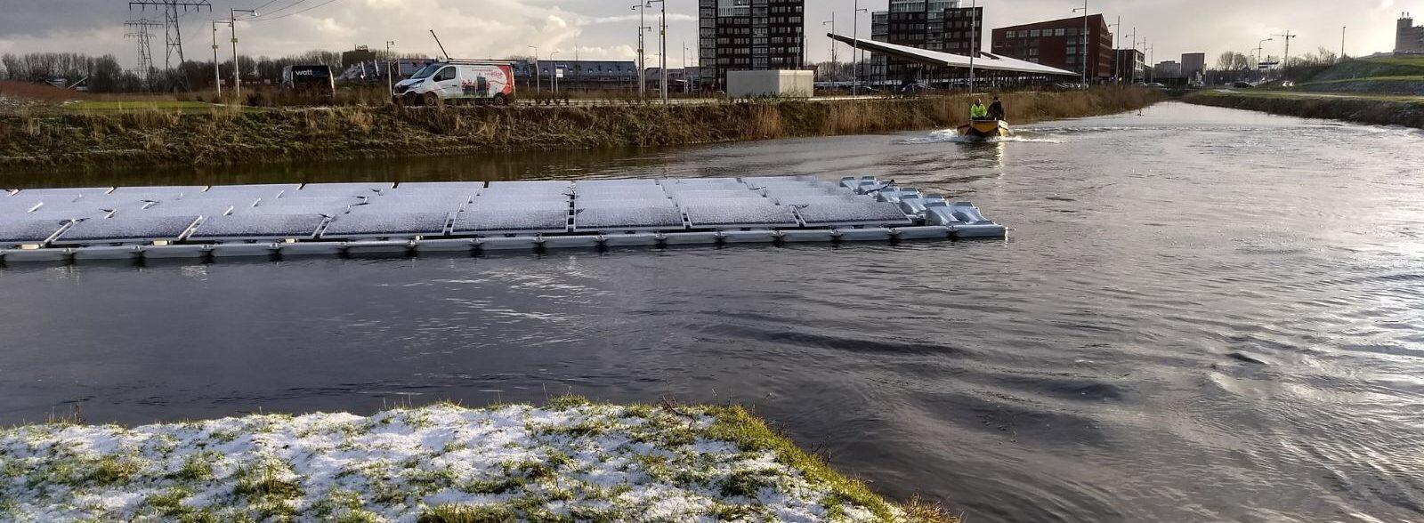 Innovatieve oplossing, zonnepanelen op water Reitdiep – Groningen